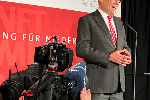 Stephan Weil am Wahlabend