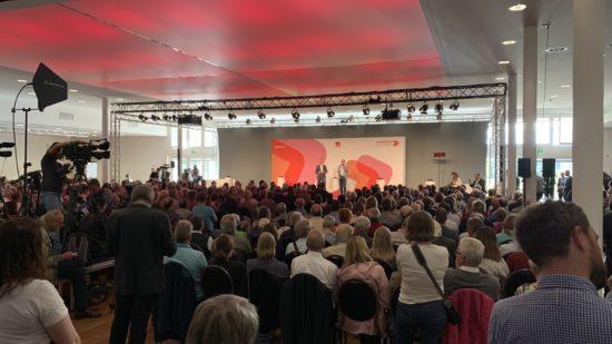 Volles Haus bei der #usereSPD-Tour am 6. September 2019 in Hannover