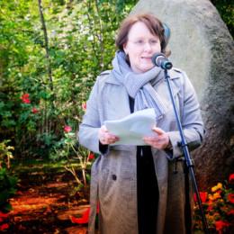 Grußwort von Claudia Schüßler am Kurt-Schumacher-Gedenkstein in Wennigsen