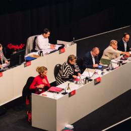 Parteitagsregie beim Parteitag in Hildesheim