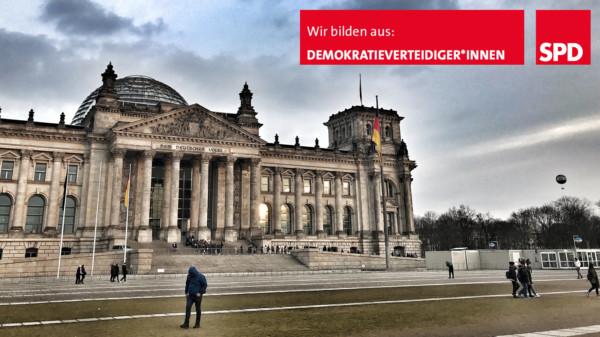Blick auf den Deutschen Bundestag in Berlin