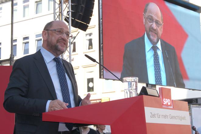 Martin Schulz bei seiner Rede in Göttingen