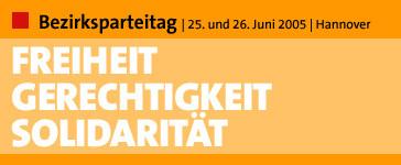 Bezirksparteitag 2005, Hinweisbanner